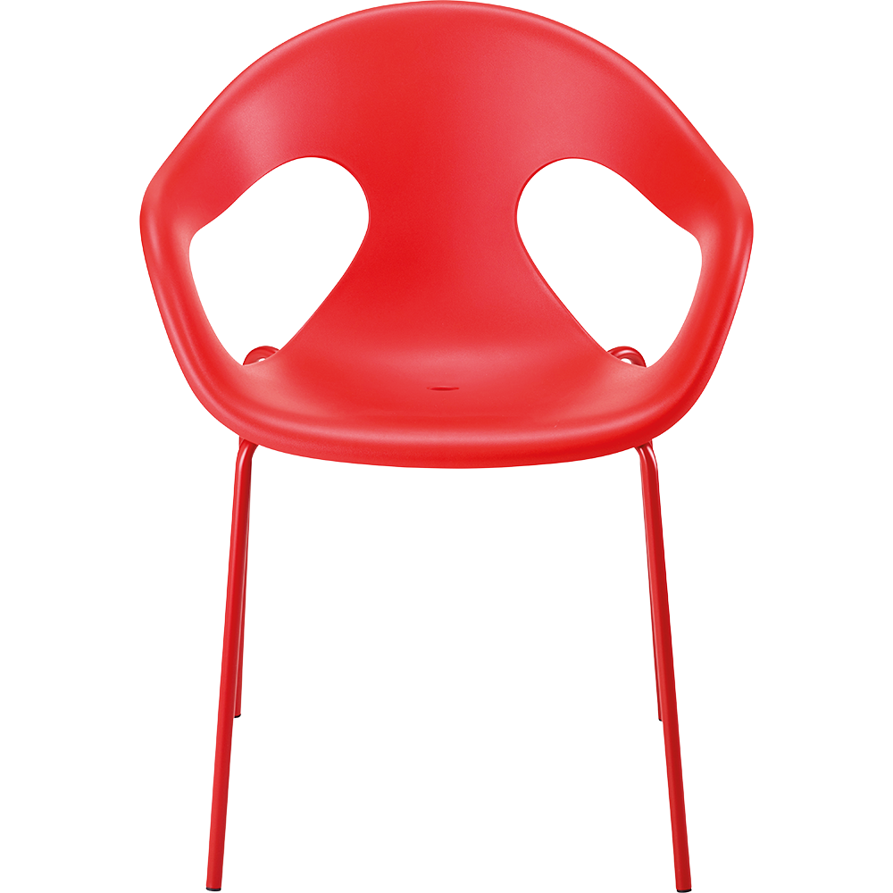 Chaise OLERON Coloris Coque Polypro Rouge