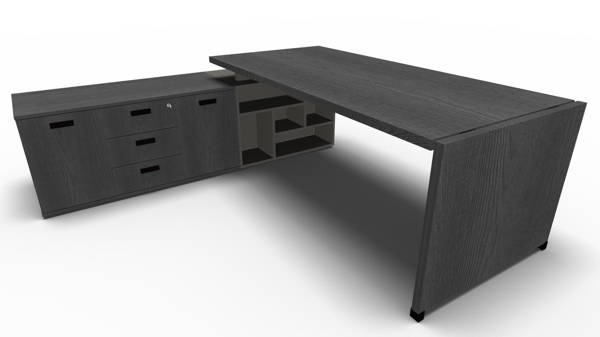 bureau avec console en retour direction fire 086 mobilier et fauteuil de bureau design amenagement. Black Bedroom Furniture Sets. Home Design Ideas