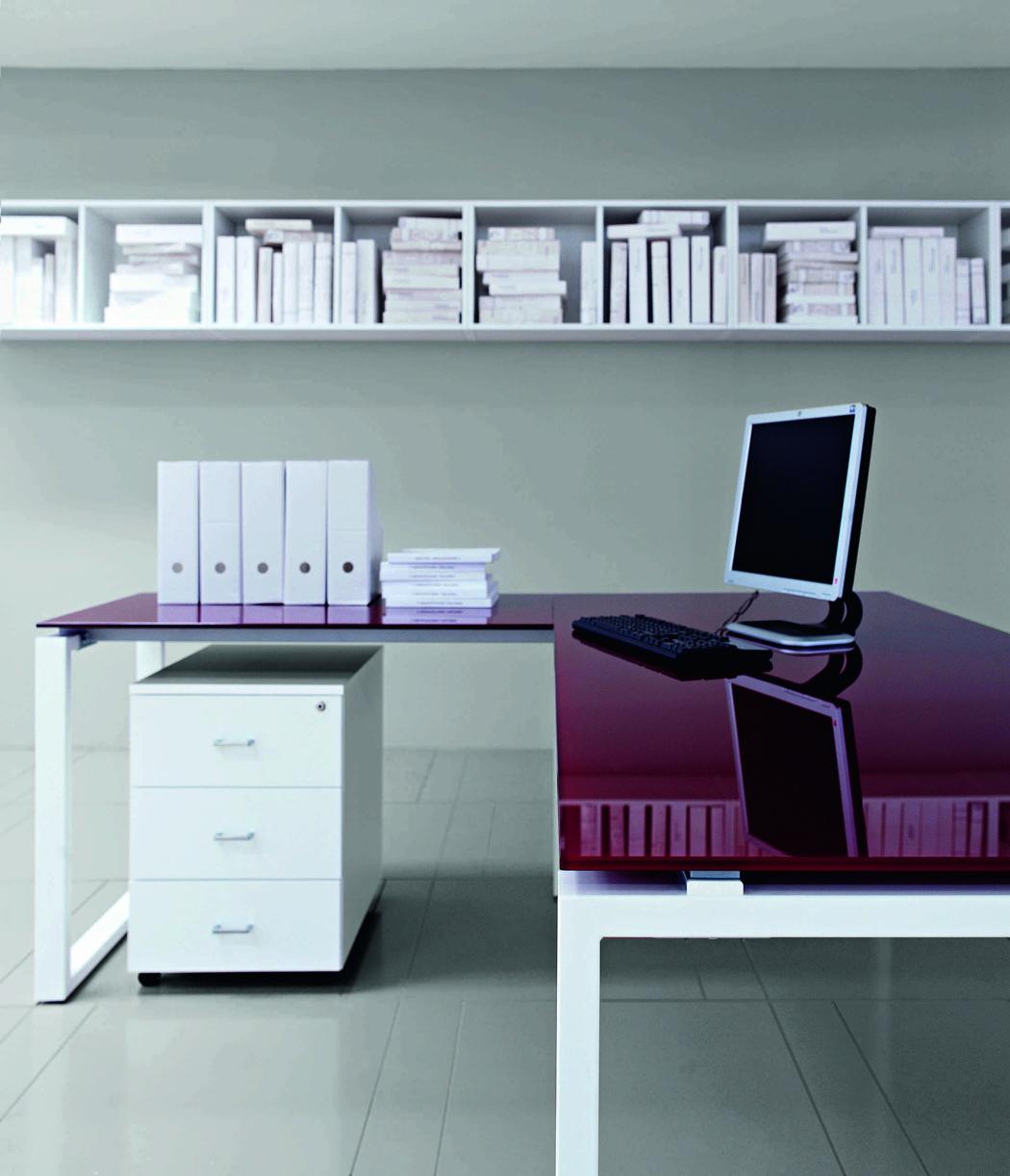 Offre prestige bureau en verre console droite ou gauche offre d couverte mobilier pour for Plateau en verre pour bureau