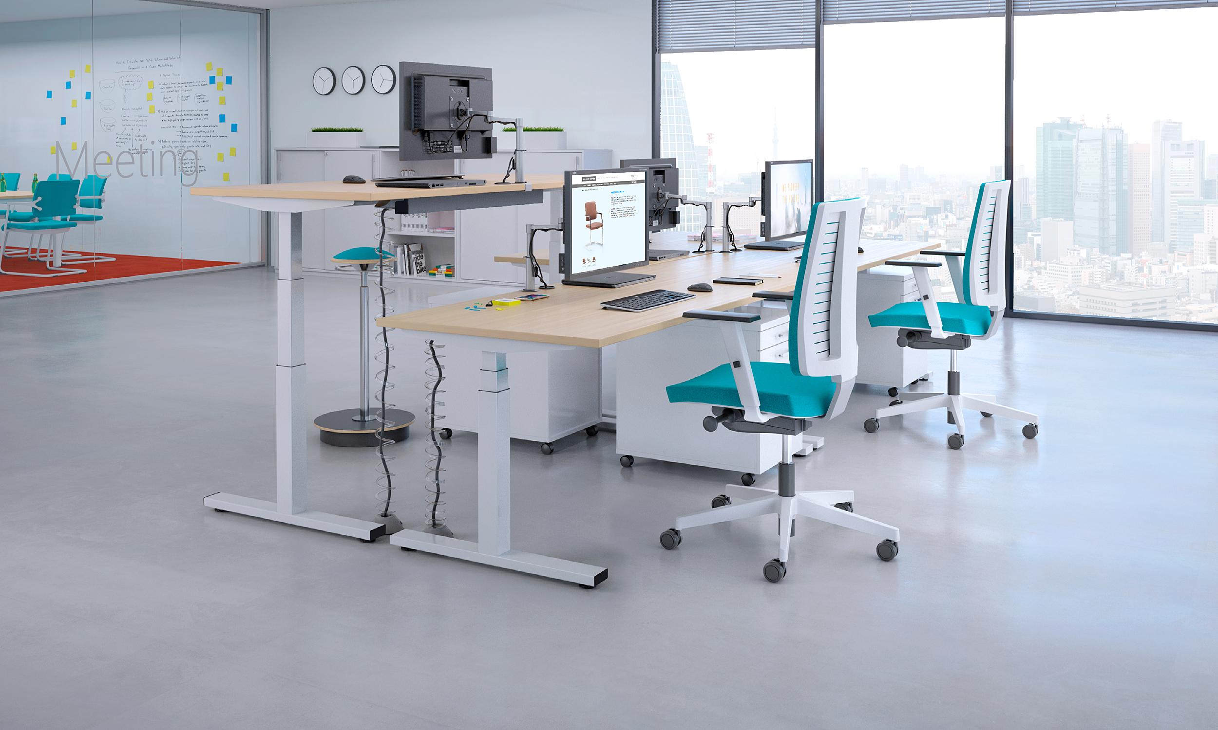 Bureau réglable en hauteur électrique model desk espacedroit : le