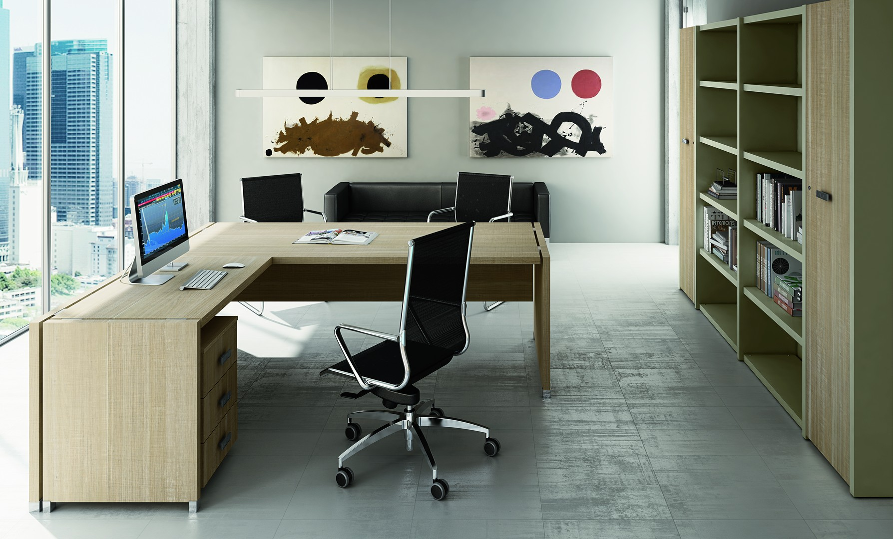bureau simple tower executive 085 le moblier pour vos espaces. Black Bedroom Furniture Sets. Home Design Ideas